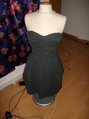A dress I managed to screw up, sad times.