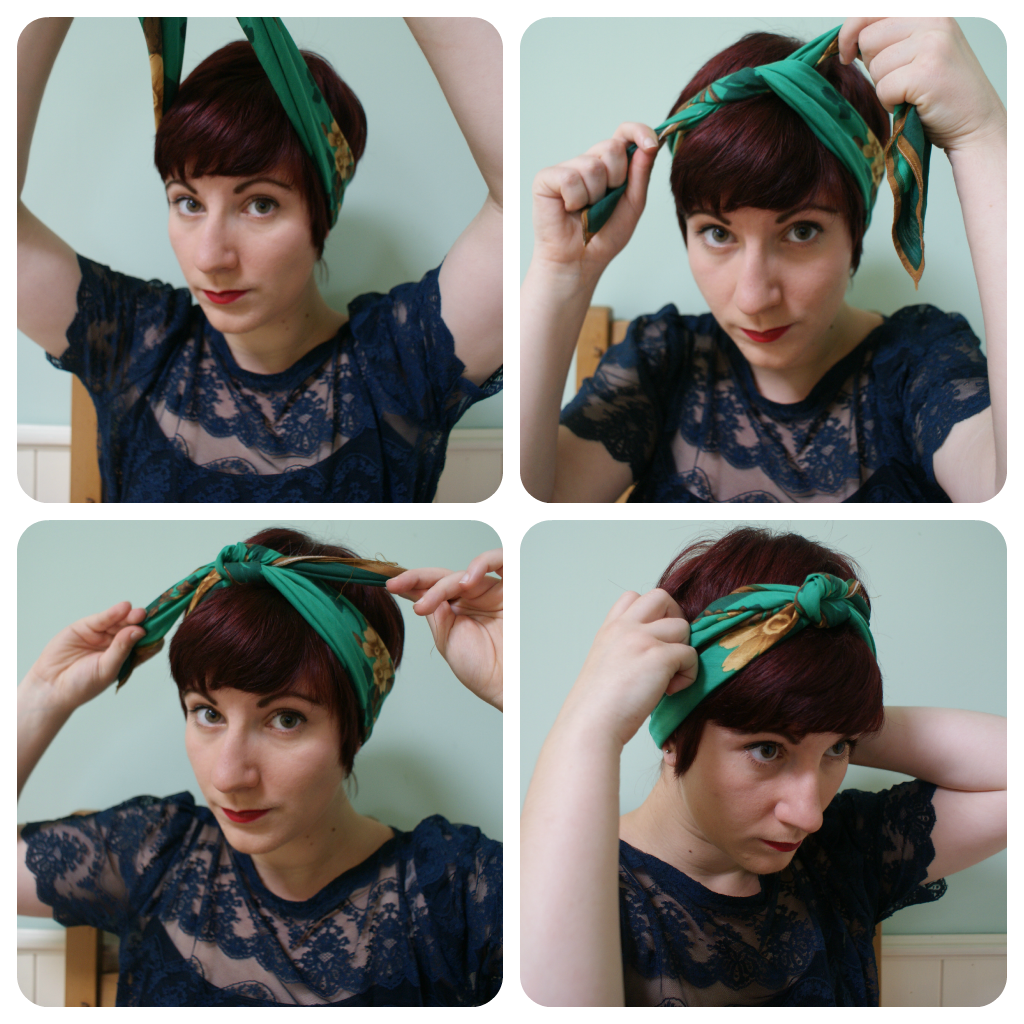 How to tie a retro-style headscarf – Sew Seamless