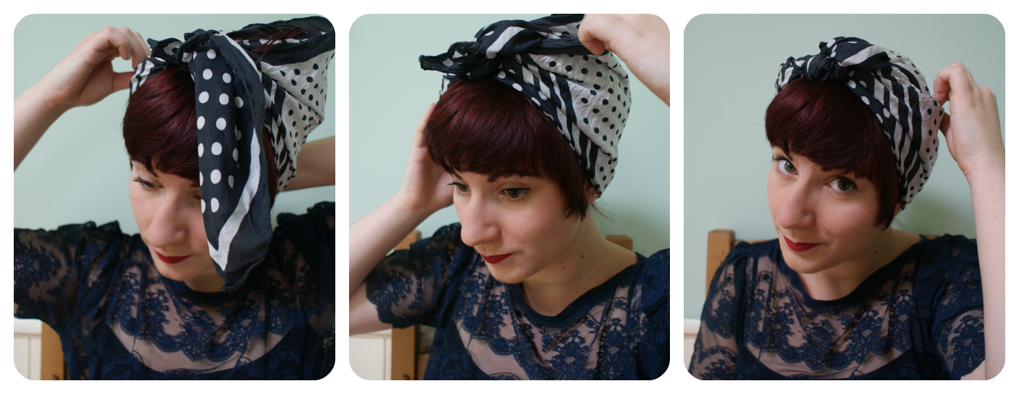 How To Tie A Retro Style Headscarf Sew Seamless