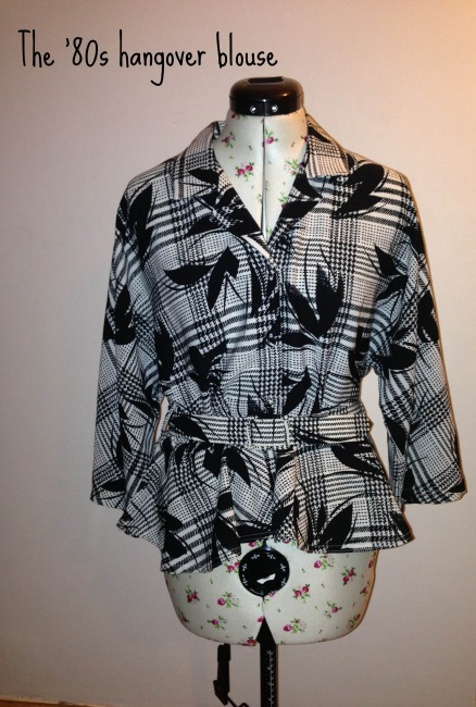 The 80s hangover blouse