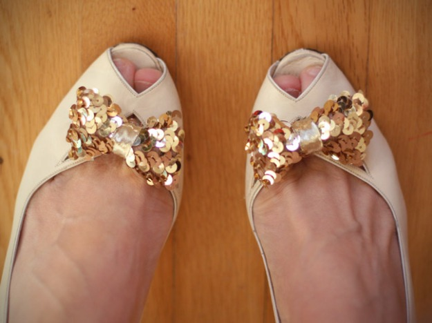 Sequin Shoe Clips | Mumtastic DIY